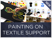 Painting on textile support